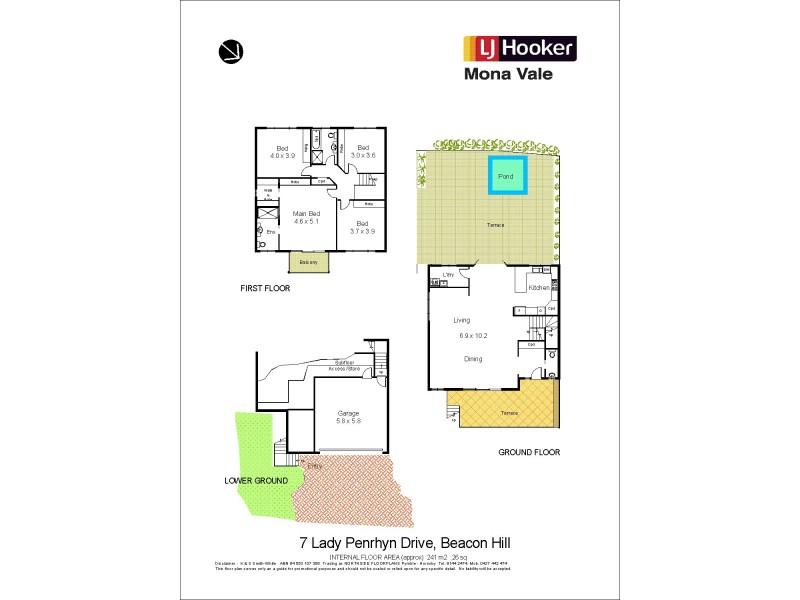 7 Lady Penrhyn Drive, Beacon Hill NSW 2100 Floorplan