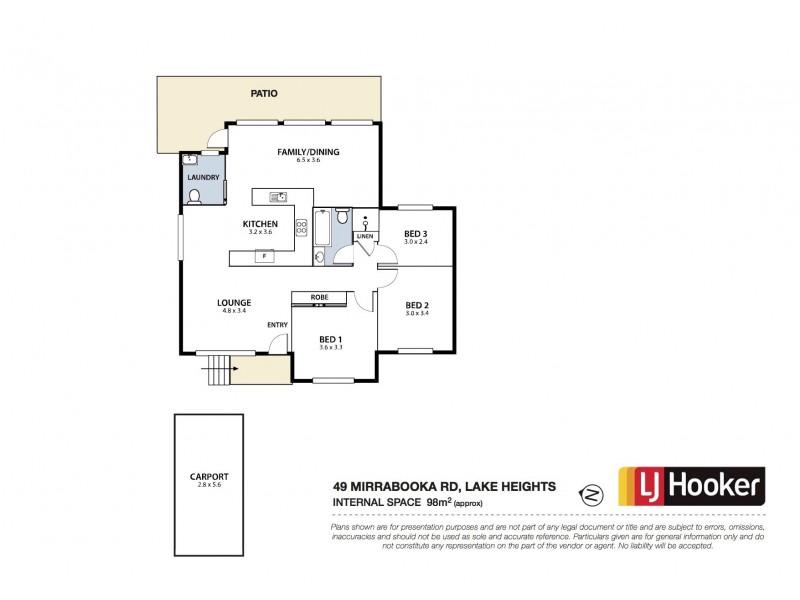 49 Mirrabooka Road, Lake Heights NSW 2502 Floorplan
