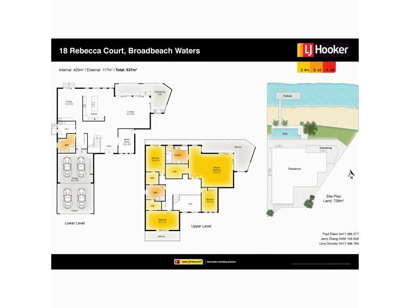 18 Rebecca Court, Broadbeach Waters QLD 4218 Floorplan