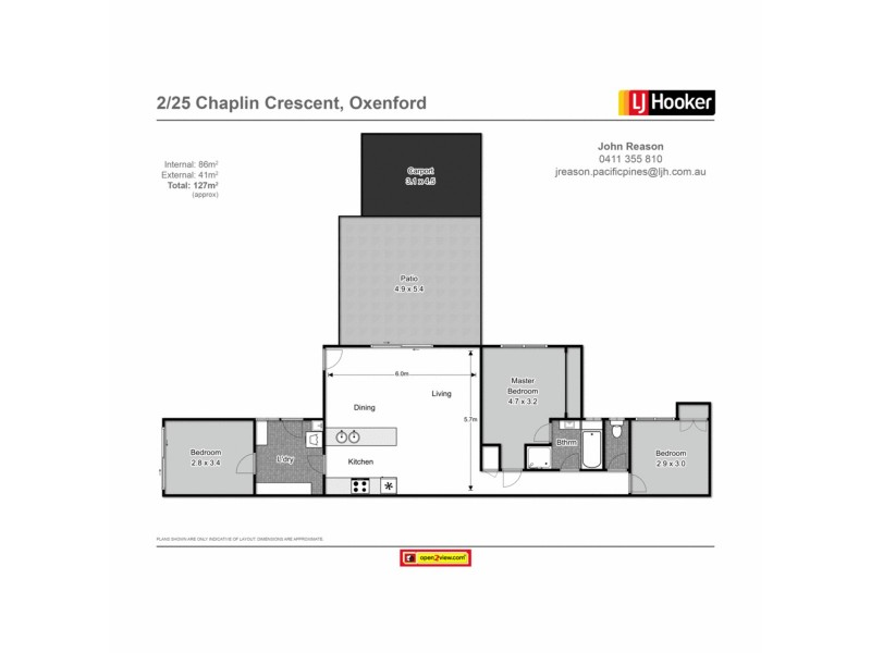 2/25 Chaplin Crescent, Oxenford QLD 4210 Floorplan