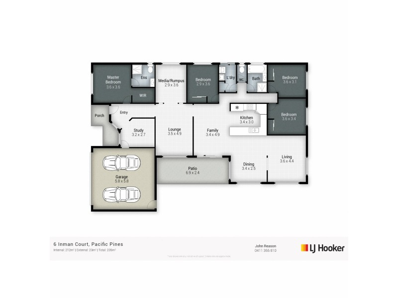 6 Inman Court, Pacific Pines QLD 4211 Floorplan