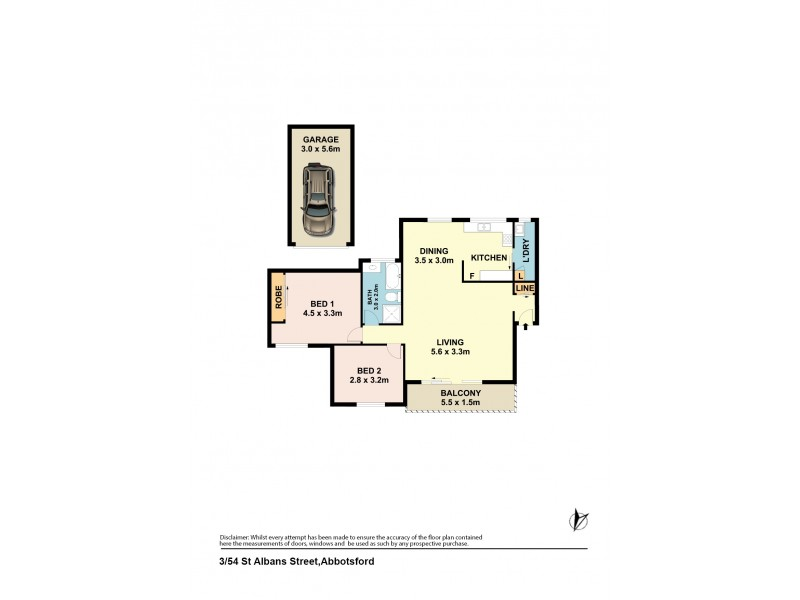 3/54 St Albans Street, Abbotsford NSW 2046 Floorplan