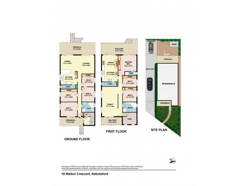 19 Walton Crescent, Abbotsford NSW 2046 Floorplan