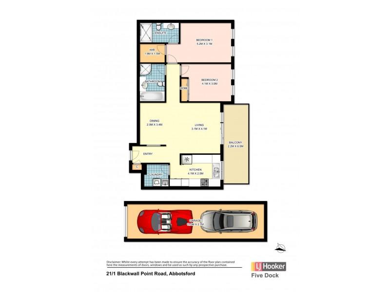 21/1 Blackwall Point Road, Abbotsford NSW 2046 Floorplan