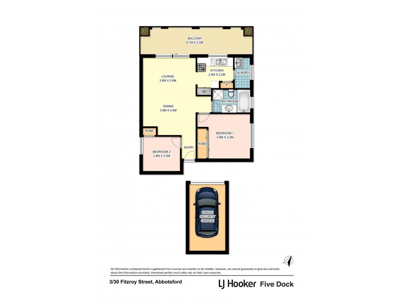 3/30 Fitzroy Street, Abbotsford NSW 2046 Floorplan