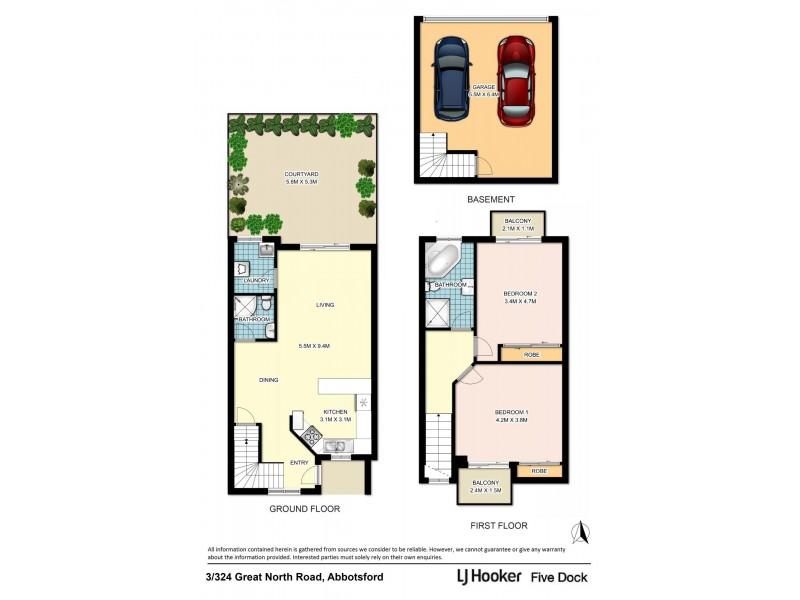 3/324 Great North Road, Abbotsford NSW 2046 Floorplan