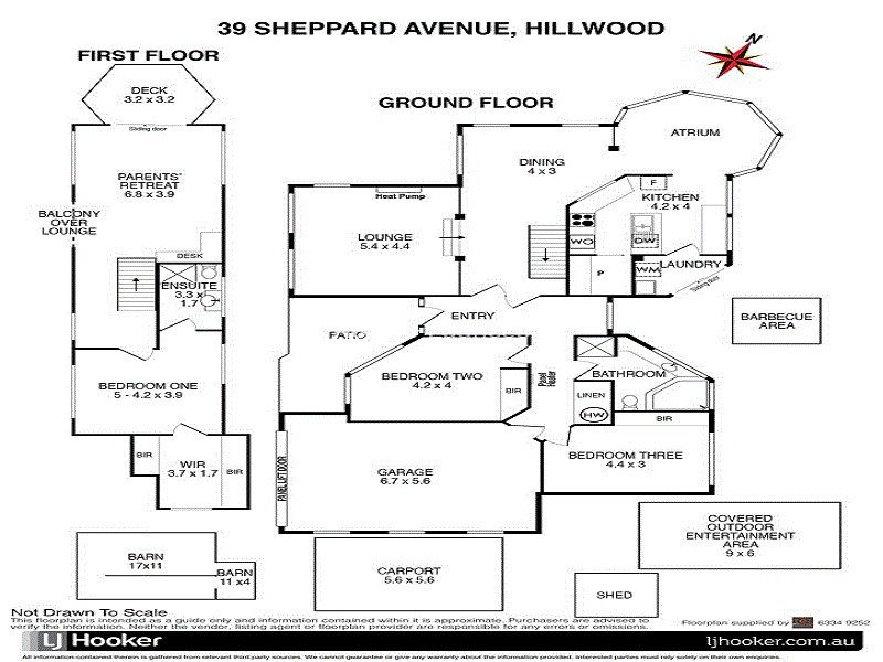 39 Sheppard Avenue, Hillwood TAS 7252 Floorplan