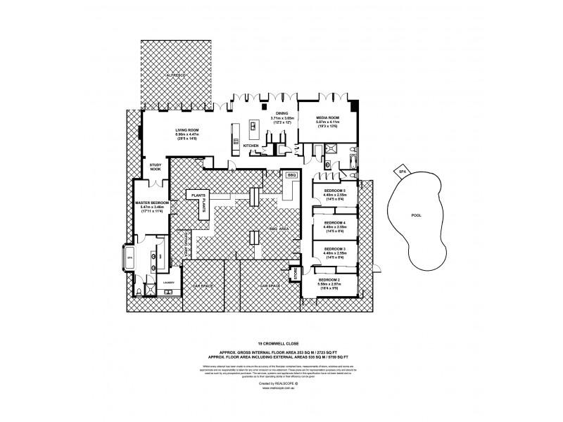 19 Cromwell Close, Brookfield QLD 4069 Floorplan