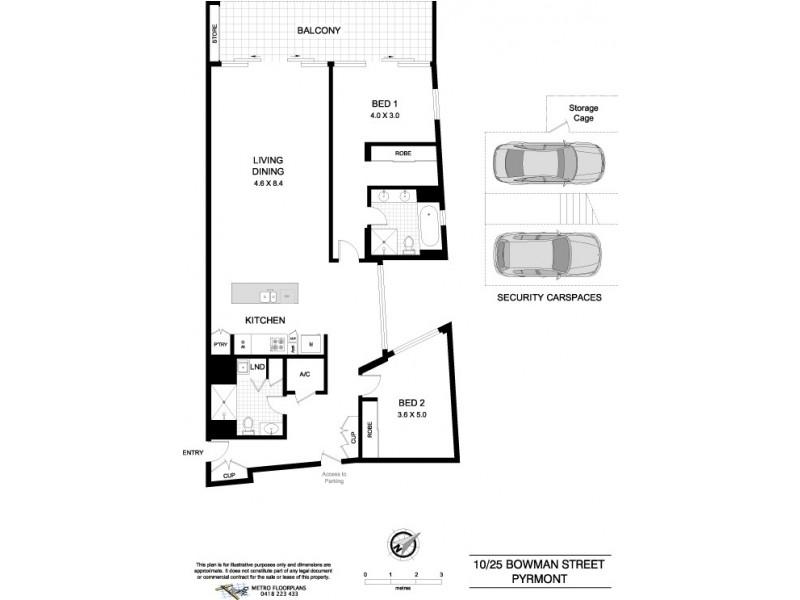 10/25 Bowman Street, Pyrmont NSW 2009 Floorplan