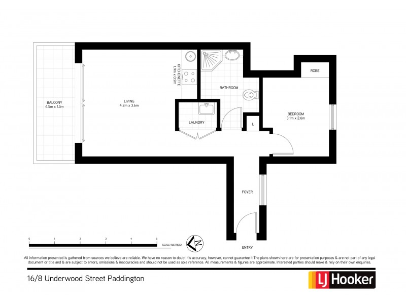16/8 Underwood Street, Paddington NSW 2021 Floorplan