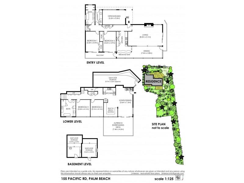 155 Pacific Road, Palm Beach NSW 2108 Floorplan
