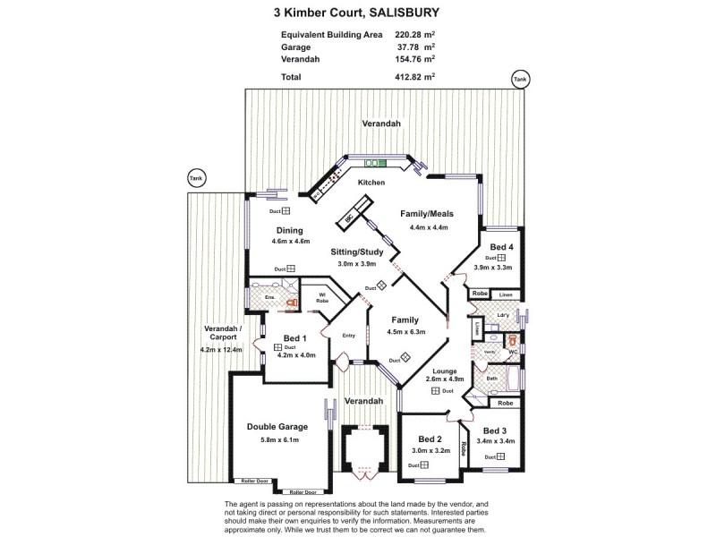 3 Kimber Court, Salisbury SA 5108 Floorplan