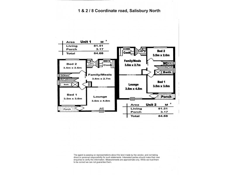 1 & 2 – 8 Coordinate Road, Salisbury North SA 5108 Floorplan