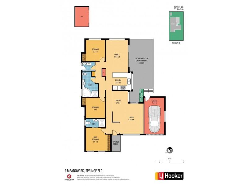 2 Meadow Road, Springfield NSW 2250 Floorplan
