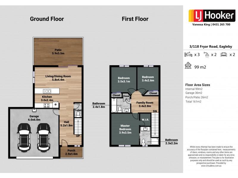3/118-120 Fryar Road, Eagleby QLD 4207 Floorplan