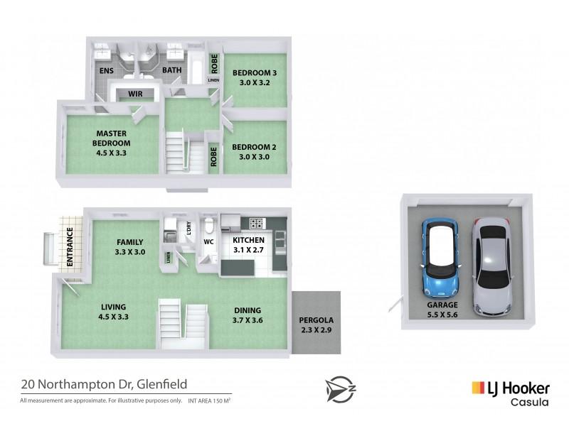 20 Northampton Drive, Glenfield NSW 2167 Floorplan
