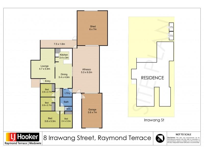 8 Irrawang Street, Raymond Terrace NSW 2324 Floorplan
