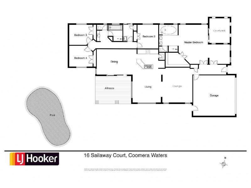 16 Sailaway Court, Coomera Waters QLD 4209 Floorplan
