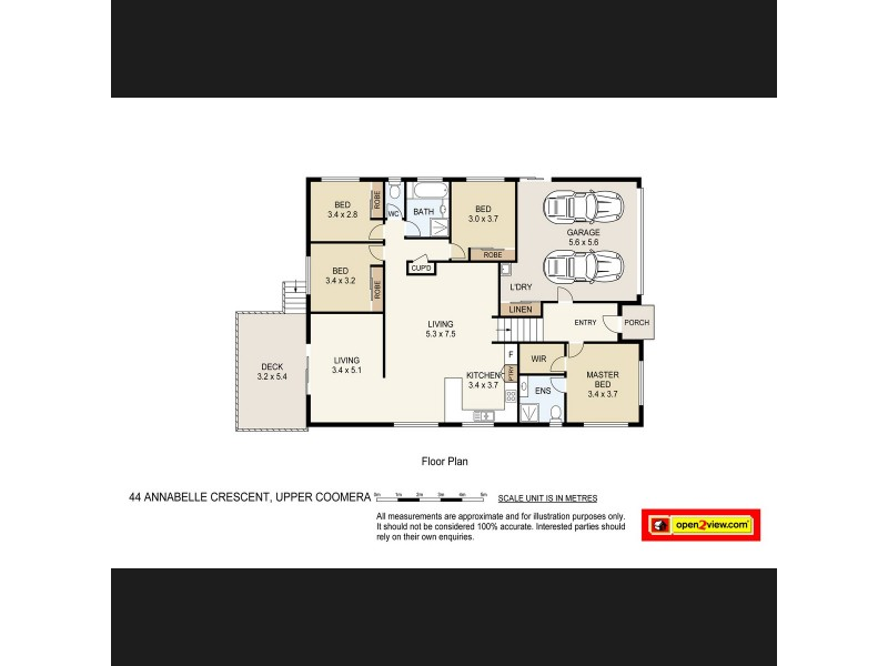 44 Annabelle Crescent, Upper Coomera QLD 4209 Floorplan
