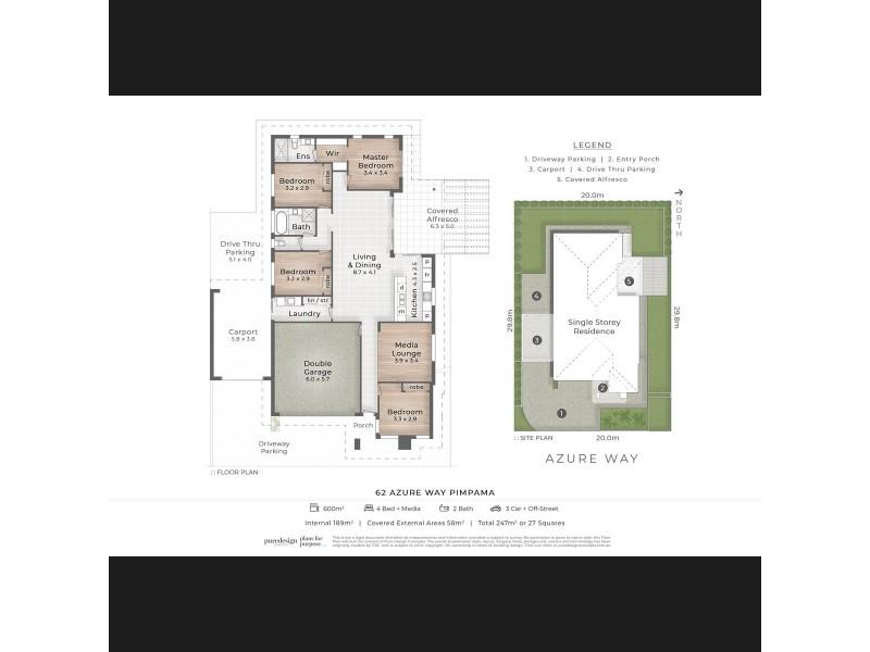 62 Azure Way, Pimpama QLD 4209 Floorplan