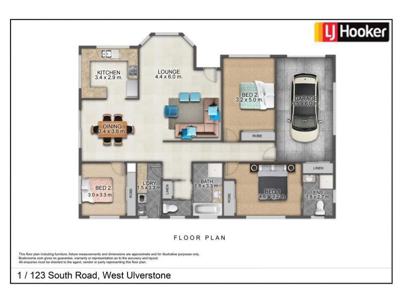 Unit 1/123b South Road, Ulverstone TAS 7315 Floorplan