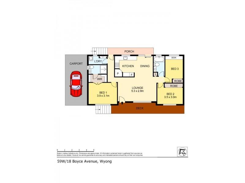 59W/18 Boyce Avenue, Wyong NSW 2259 Floorplan