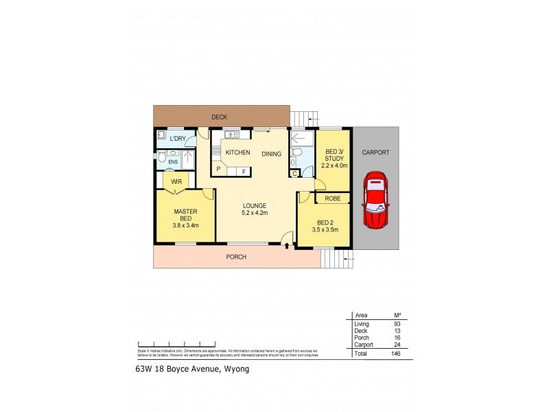 63W/18 Boyce Avenue, Wyong NSW 2259 Floorplan