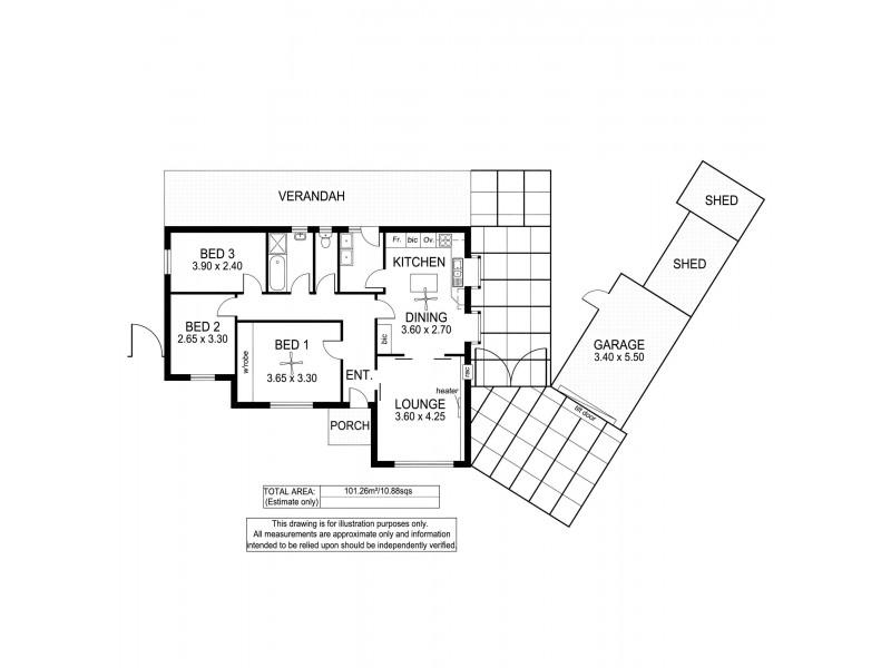 67 Sixth Avenue, Ascot Park SA 5043 Floorplan