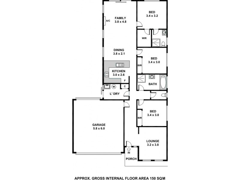 15 St Clair Avenue, Andrews Farm SA 5114 Floorplan