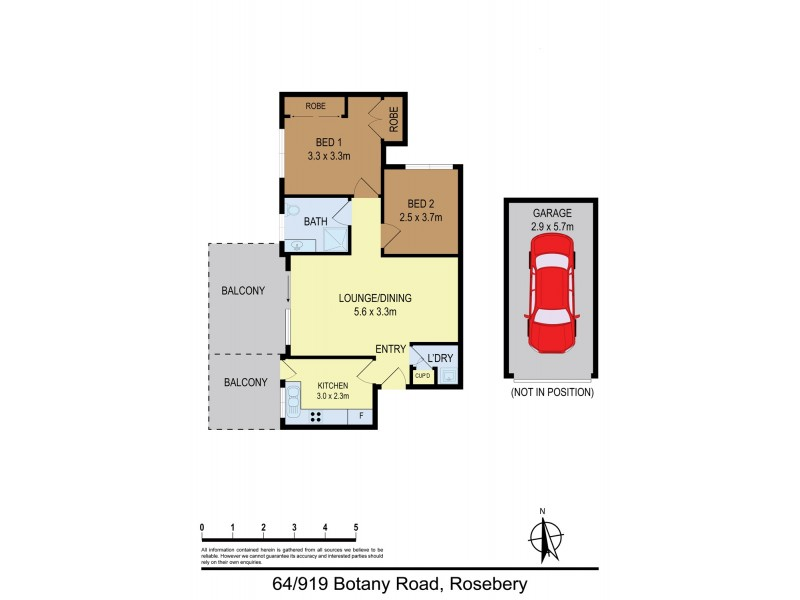 64/919 Botany Road, Rosebery NSW 2018 Floorplan