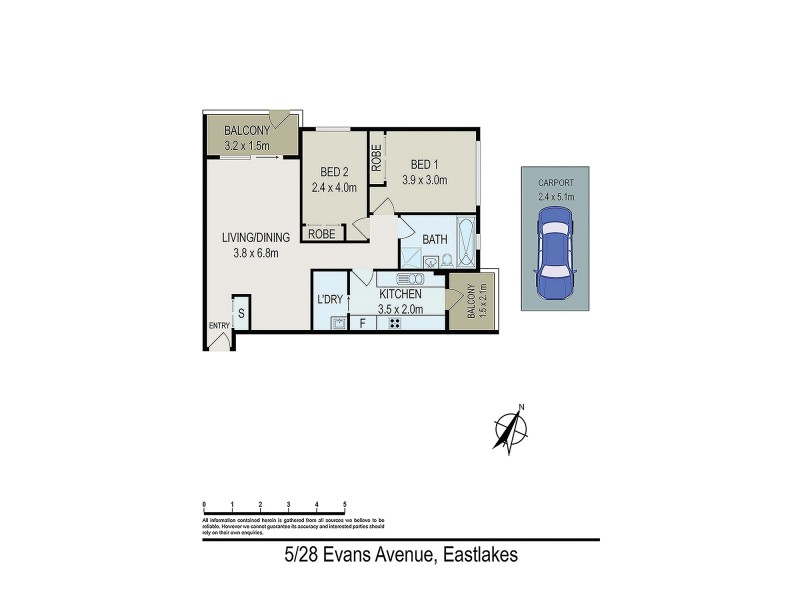 5/28 Evans Avenue, Eastlakes NSW 2018 Floorplan