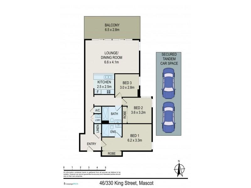 46/330 King Street, Mascot NSW 2020 Floorplan