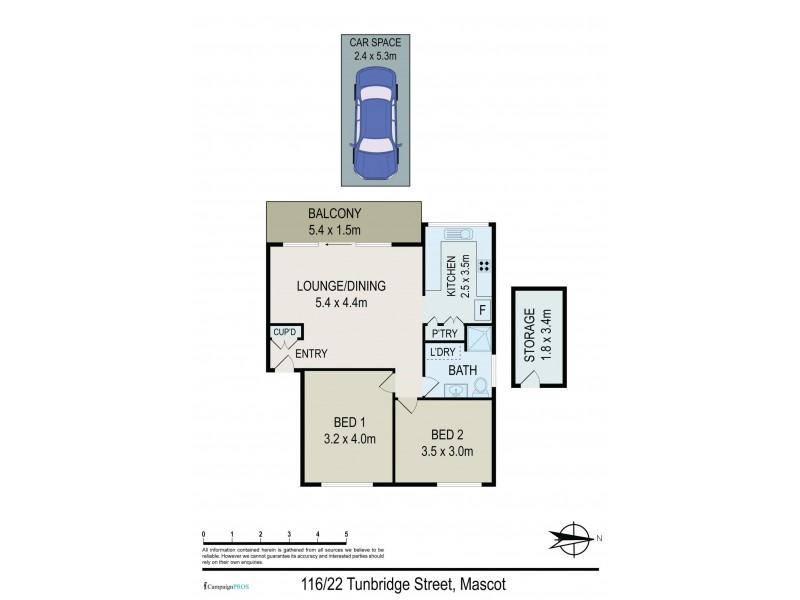 116/22 Tunbridge Street, Mascot NSW 2020 Floorplan