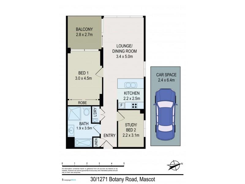 30/1271 Botany Road, Mascot NSW 2020 Floorplan