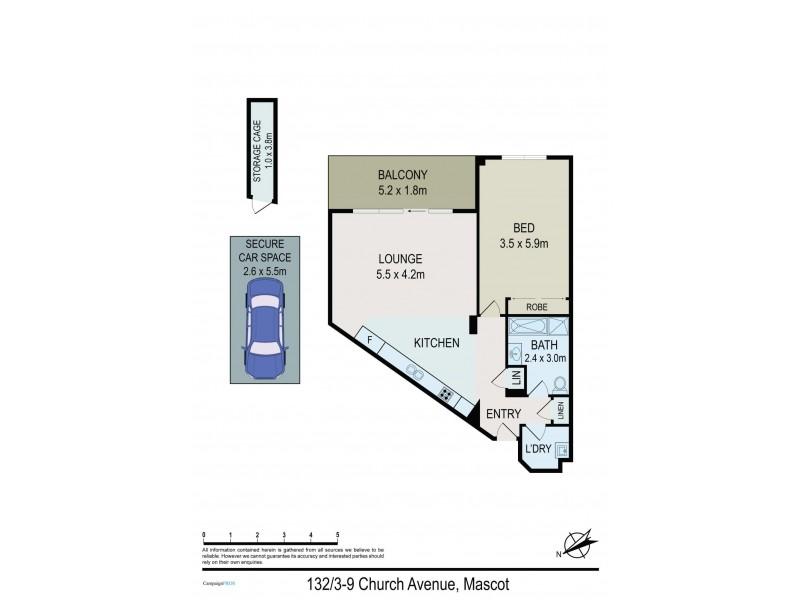 132/3-9 Church Avenue, Mascot NSW 2020 Floorplan