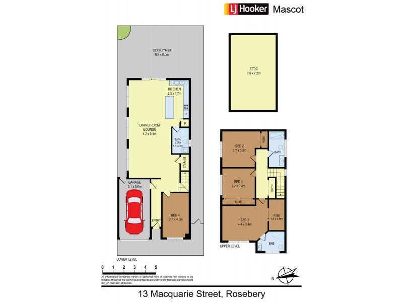 13 Macquarie Street, Rosebery NSW 2018 Floorplan