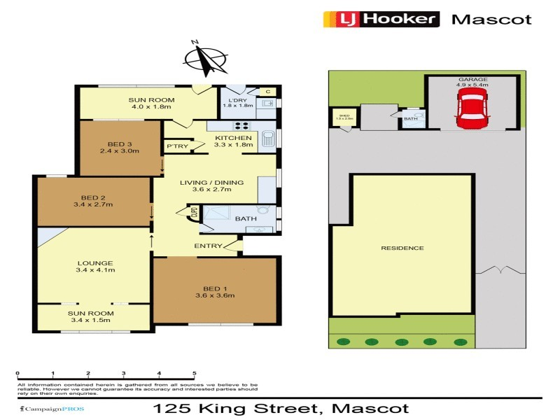 125 King Street, Mascot NSW 2020 Floorplan