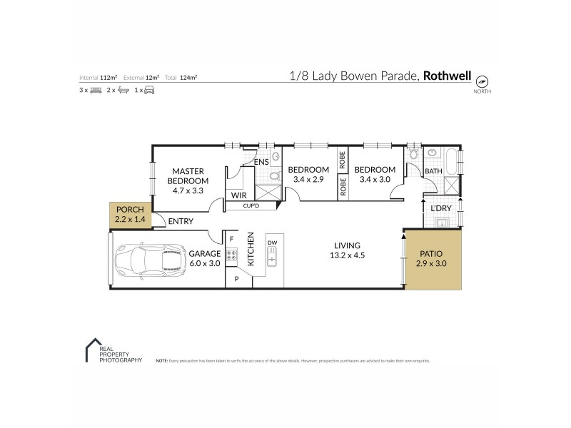 1/8 Lady Bowen Parade, Rothwell QLD 4022 Floorplan