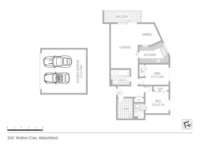 3/61 Walton Crescent, Abbotsford NSW 2046 Floorplan