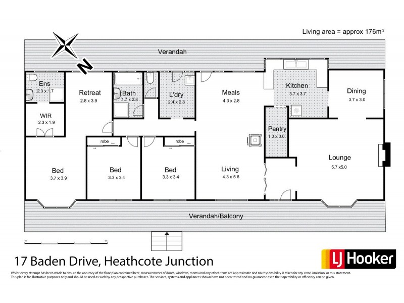 17 Baden Drive, Heathcote Junction VIC 3758 Floorplan