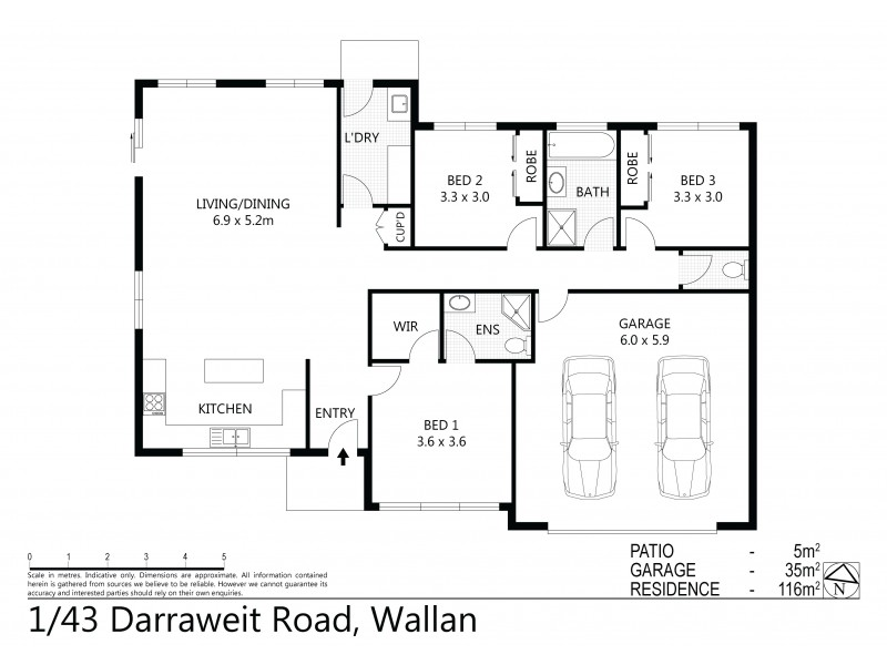 Unit 1/43 Darraweit Road, Wallan VIC 3756 Floorplan
