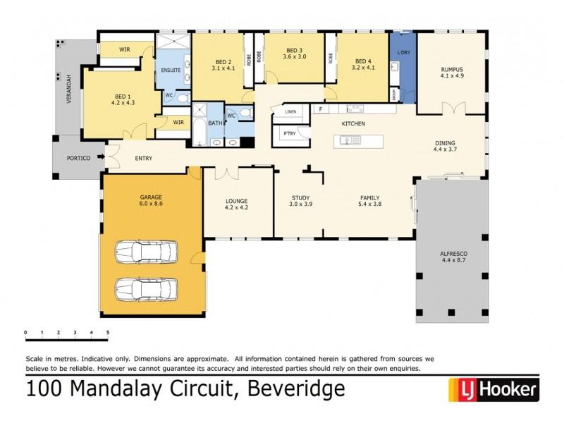 100 Mandalay Circuit, Beveridge VIC 3753 Floorplan
