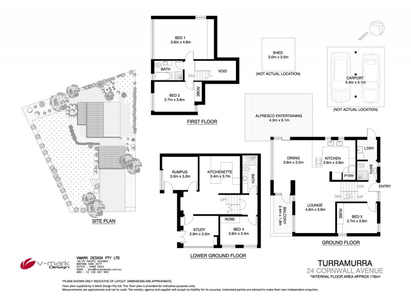 24 Cornwall Avenue, Turramurra NSW 2074 Floorplan