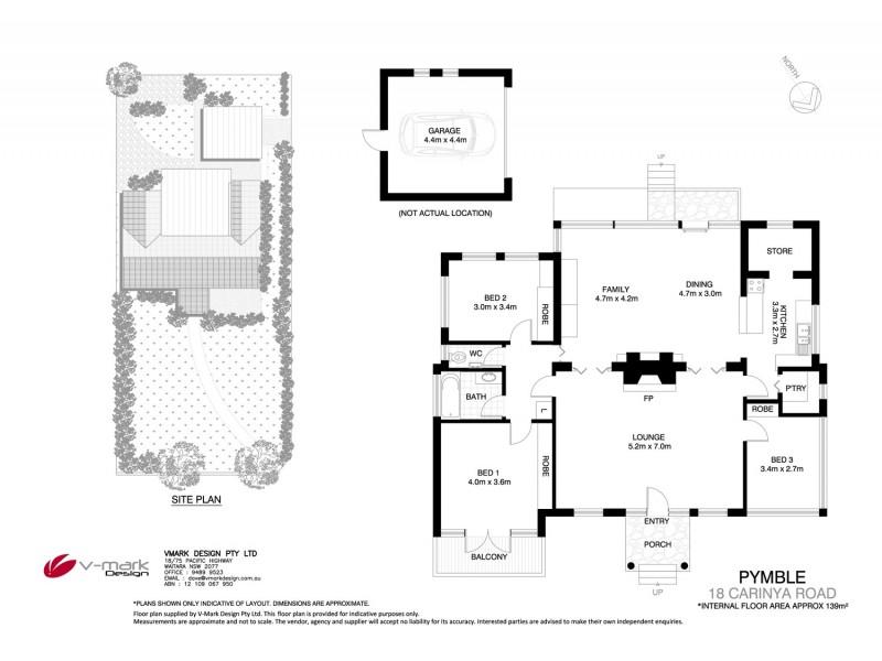 18 Carinya Road, Pymble NSW 2073 Floorplan