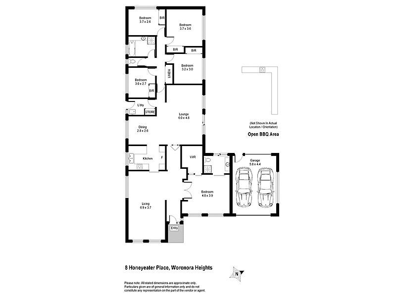 8 Honeyeater Place, Woronora Heights NSW 2233 Floorplan