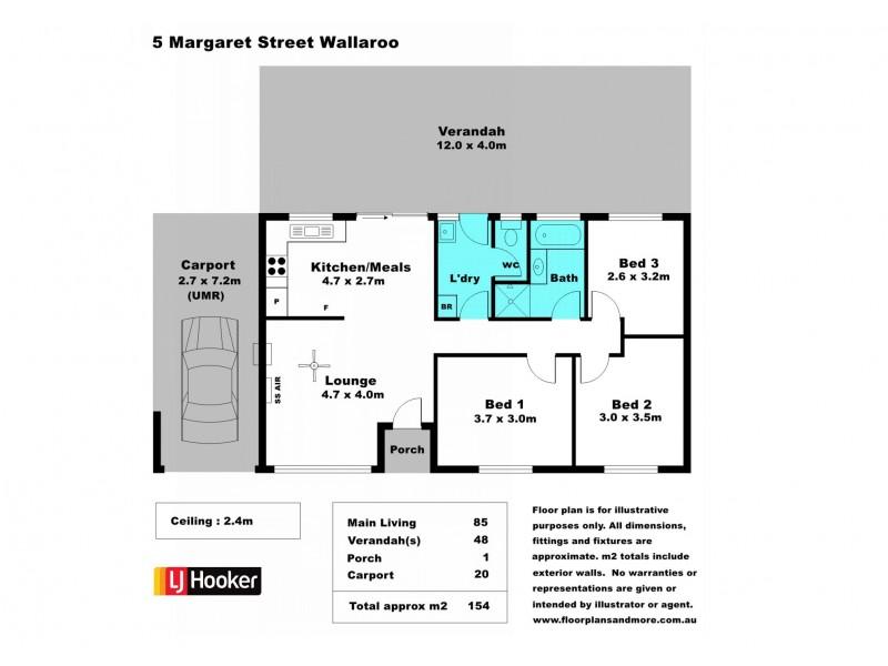 5 Margaret Street, Wallaroo SA 5556 Floorplan