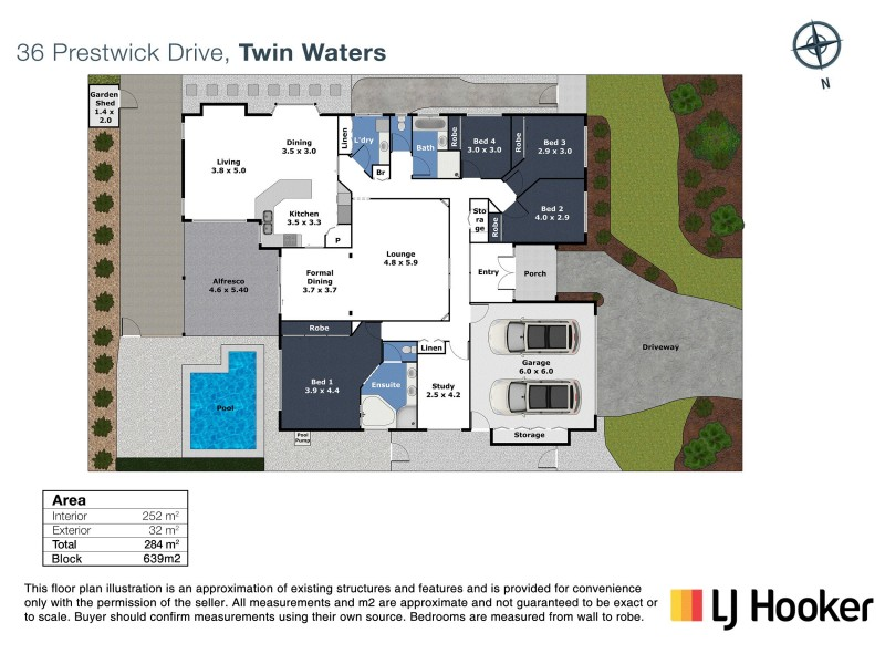 36 Prestwick Drive, Twin Waters QLD 4564 Floorplan
