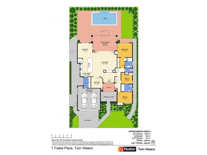 1 Tralee Place, Twin Waters QLD 4564 Floorplan