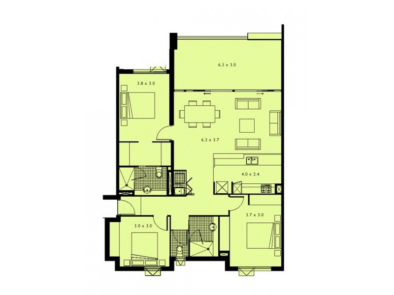 58/43 Love Street, Bulimba QLD 4171 Floorplan