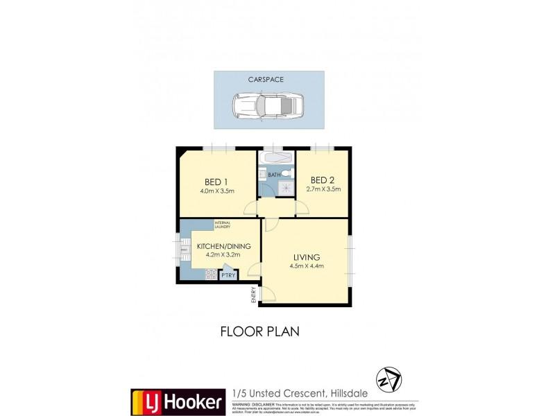 1/5 Unsted Crescent, Hillsdale NSW 2036 Floorplan